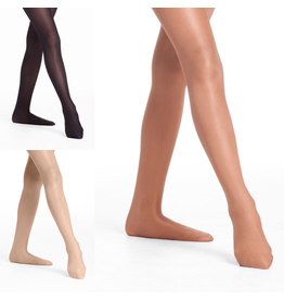DANSKIN 1331 ADULT ULTRA SHIMMERY FOOTED TIGHT