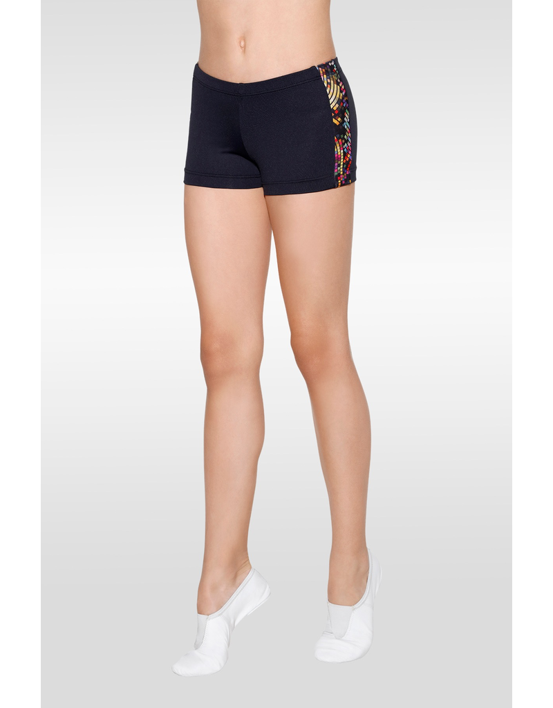 SO DANCA L1477 MAIA GEO SIDE PANEL SHORTS