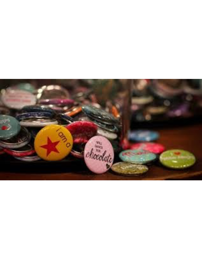 B PLUS CHIT CHAT 1'' ROUND BUTTONS ASSORTED