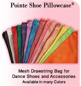 PILLOWS FOR POINTES SPSP SATIN TRIMMED MESH SHOE BAG