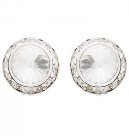 DASHA DESIGNS 2710C-CLR CLIP ON EARRINGS