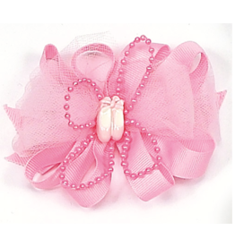DASHA DESIGNS 4080 BALLET SLIPPER BOW BARRETTE