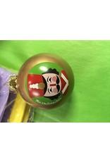 KURT S. ADLER GG0383 NUTCRACKER DESIGN GLASS BALL ORNAMENT
