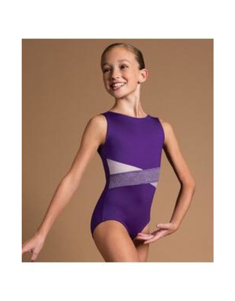 MOTIONWEAR 2674 LIVI CHILD DIAGONAL OVERLAP BOATNECK LEOTARD