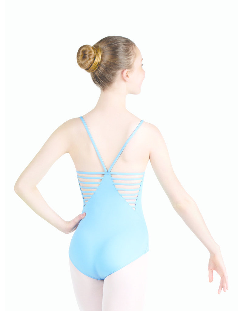 CAPEZIO & BUNHEADS ASE1031W STUDIO COLLECTION DOUBLE V-BACK MULTI-STRAP CAMISOLE LEOTARD
