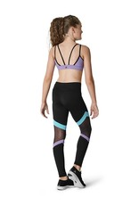 BLOCH & MIRELLA KA041P COLOR MESH PANEL LEGGING