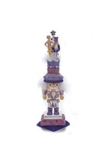 KURT S. ADLER HA0277 HOLLYWOOD GLITTER DRUMMER NUTCRACKER WITH MINI BALLERINA & NUTCRACKER TREE HEAD