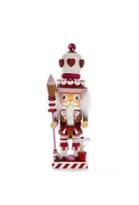 KURT S. ADLER HA0352 HOLLYWOOD GINGERBREAD PEPPERMINT WAFFLE CONE KING OF HEARTS NUTCRACKER