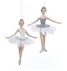 KURT S. ADLER ENCHANTED SNOW BALLERINA ORNAMENT