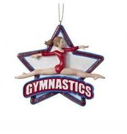 KURT S. ADLER C8816 GYMNAST STAR ORNAMENT