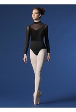 BLOCH & MIRELLA M1015LM VELVET HIGH NECK LONG SLEEVE