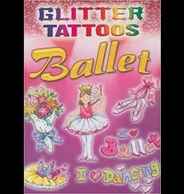 DOVER PUBLICATIONS 465456 GLITTER BALLET TATTOOS BOOK
