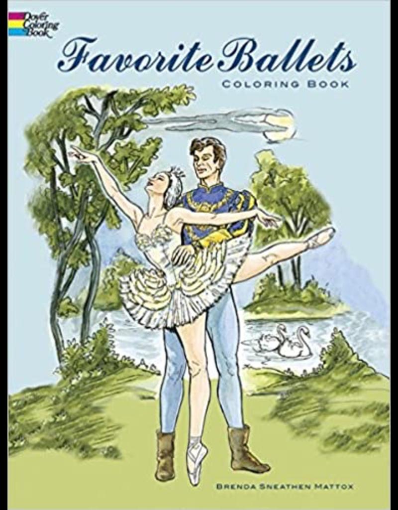 DOVER PUBLICATIONS 436463 FAVORITE BALLETS BALLET COLORING BOOK