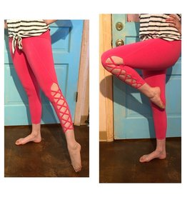 HARD TAIL W653 BRIGHT ANKLE CROSS FLAT WAIST LEGGING