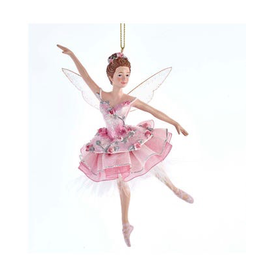 KURT S. ADLER E0424 SUGAR PLUM FAIRY BALLERINA ORNAMENT WITH WINGS