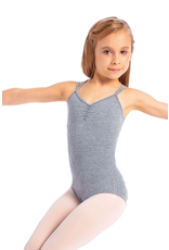 SO DANCA L1701 LUCINHA PINCHED FRONT GEOMETRIC STRAP BACK CAMISOLE LEOTARD