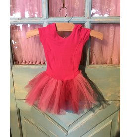BASIC MOVES BH9447HJ LADDER BACK 2TONE S/S TUTU DRESS