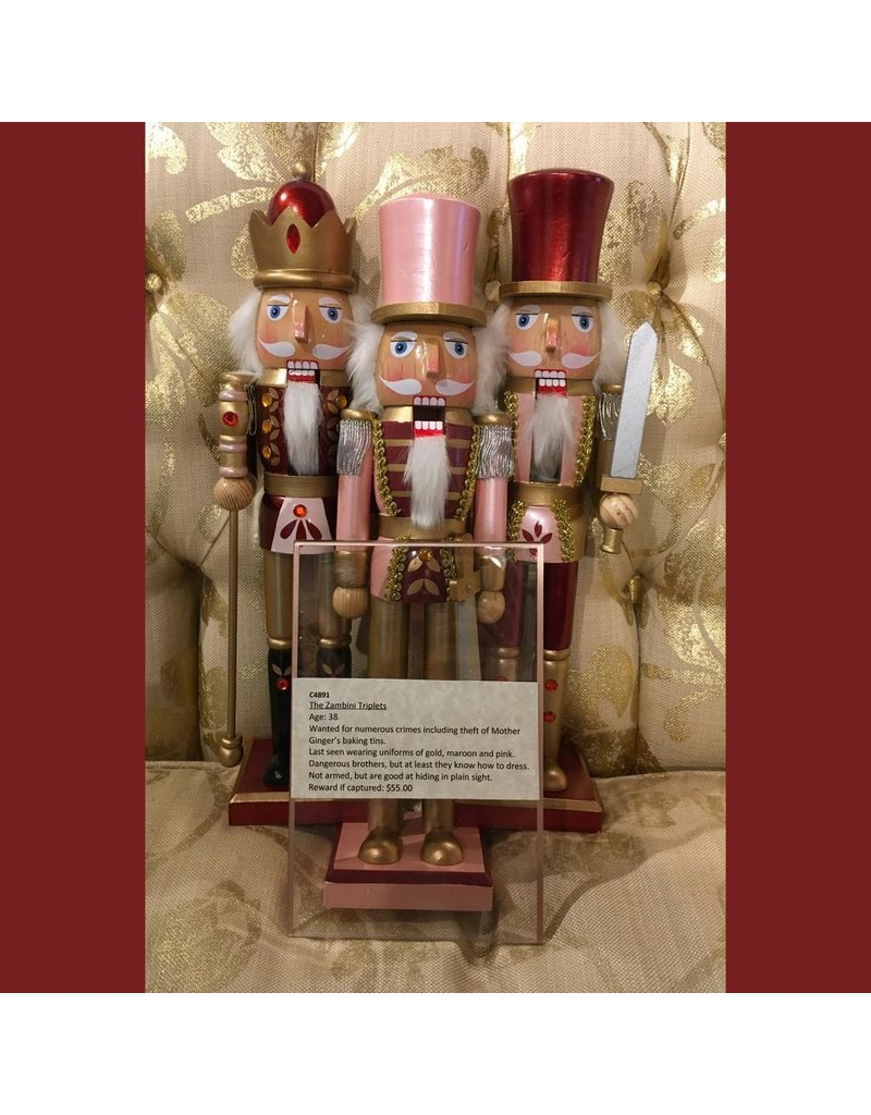 KURT S. ADLER C4891 FOLK ART WOODEN NUTCRACKER