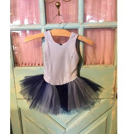 BASIC MOVES BH9445HJ CROSS BACK 2TONE TANK TUTU DRESS