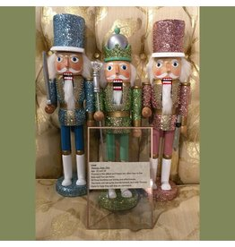 "KURT S. ADLER F2006 15"" GLITTER KING NUTCRACKER"