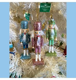 KURT S. ADLER F2001 GLITTER COVERED NUTCRACKER ORNAMENT