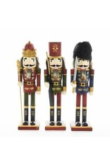 KURT S. ADLER C4779 TRADITIONAL RUSTIC WOOD GRAIN NUTCRACKER