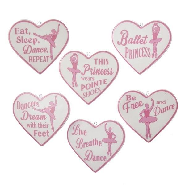 KURT S. ADLER C4789 PORCELAIN DANCE HEART ORNAMENT