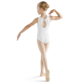 BLOCH & MIRELLA CL9535 SUNLINA EMBROIDERY ANGLAISE KEYHOLE BACK TANK LEOTARD