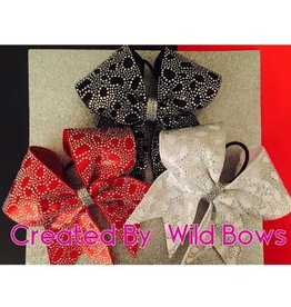 WILD BOWS WILD BOW-2025 RHINESTONE CHEER BOW