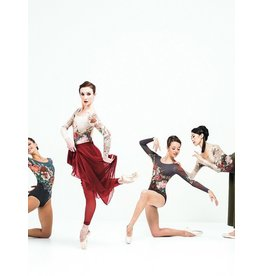 BALLET ROSA VICTORIA FLORAL PRINT KEYHOLE NECK LEOTARD