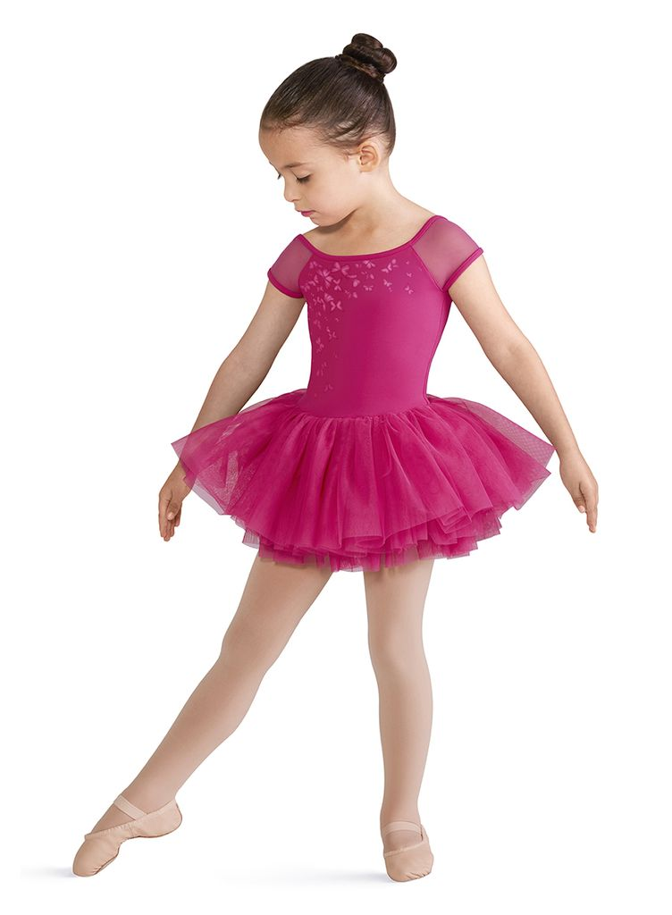 BLOCH & MIRELLA CL8172 PRIMAVERA PRINTED MESH ABELLE CAP SLEEVE TUTU DRESS