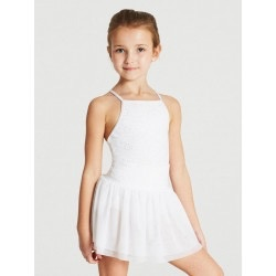 CAPEZIO & BUNHEADS A11338C EYELET CHILD WAISTBAND LAYERED SKIRT