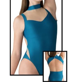 MOTIONWEAR 2938 SOPHIQUE (inspired by William Forsythe) MESH INSET OPEN BACK MOCK NECK LEOTARD