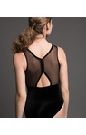 MOTIONWEAR 2872 ADULT Y BACK MESH BOUND TANK LEOTARD