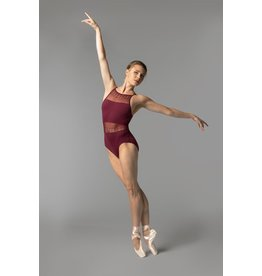 SO DANCA RDE1712 SARA MEARNS LACE CAMISOLE LEOTARD WITH MIDRIFF