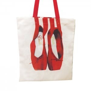 DANSHUZ 4999 POINTE SHOE TOTE BAG WITH SATIN RIBBON