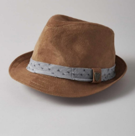 FORE AXEL & HUDSON CAMEL SUEDE FEDORA