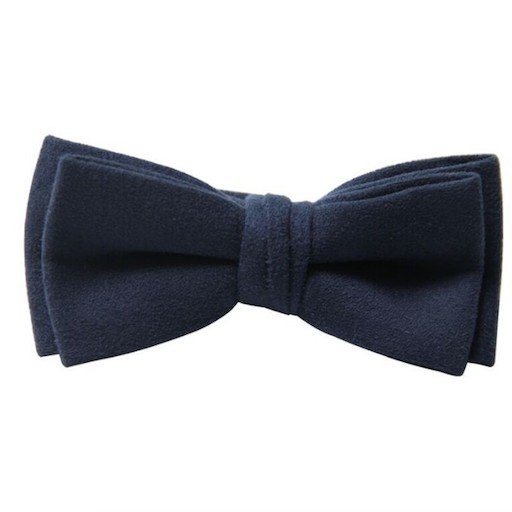 FORE AXEL & HUDSON NAVY SUEDE BOW TIE