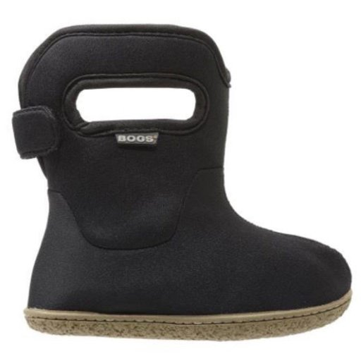 BOGS BABY BOGS CLASSIC SOLID BLACK WATERPROOF BOOTS