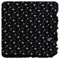 KICKEE PANTS HOLIDAY RUFFLE TODDLER BLANKET IN SILVER BRIGHT STARS