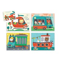 CHRONICLE BOOKS TRANSPORTATION 4 IN A BOX PUZZLE SETS