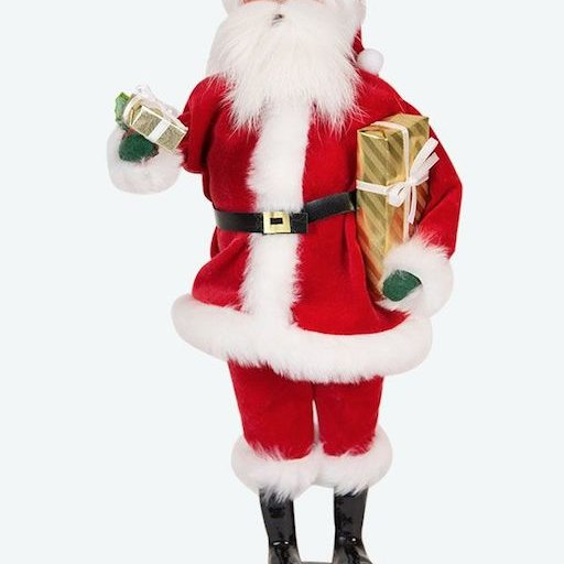 BYERS' CHOICE SANTA DELIVERING GIFTS