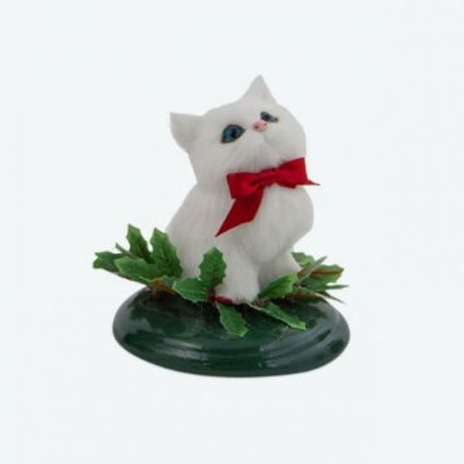 BYERS WHITE CAT WITH HOLLY