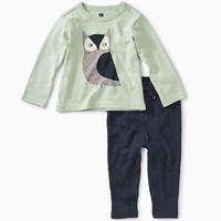 TEA WISE OWL BABY OUTFIT