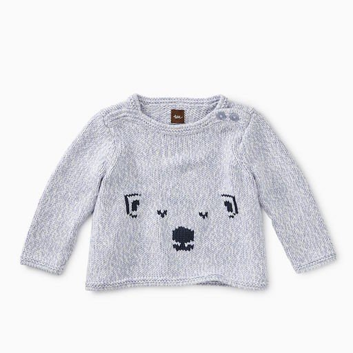 TEA CUTE CUB BUTTON SWEATER
