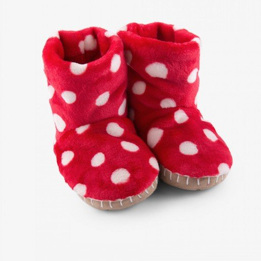 HATLEY POLKA DOTS FLEECE SLIPPERS