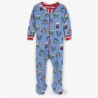 HATLEY COZY PUPS ORGANIC COTTON FOOTED COVERALL