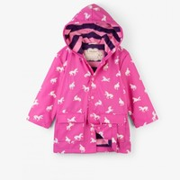 HATLEY COLOR CHANGING UNICORN SILHOUETTES RAINCOAT