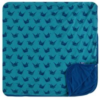 KICKEE PANTS PRINT TODDLER BLANKET IN SEAGRASS ORIGAMI CRANE