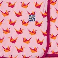 KICKEE PANTS PRINT SWADDLING BLANKET IN LOTUS ORIGAMI CRANE